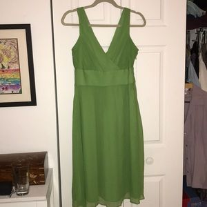 J. Crew 12 spring green silk chiffon dress VGC